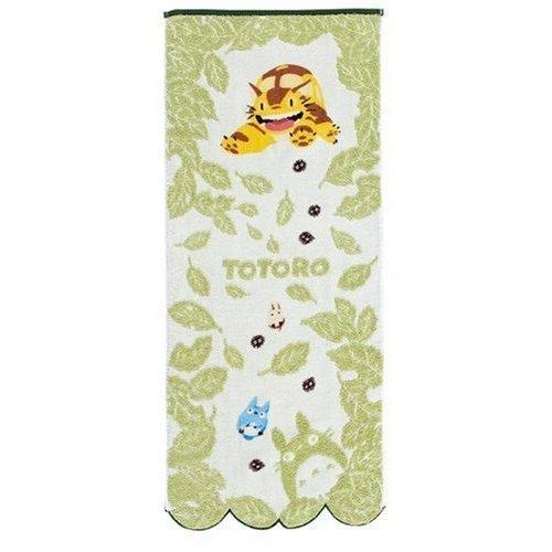 Face Towel - NonThread Steam Shirring - leaf - Totoro & Chu & Sho & Nekobus - Ghibli - 2009 (new)