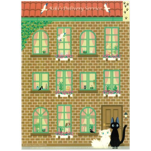 Clear File A5 - 3 pocket - Jiji & Lily - Kiki's Delivery Service - Ghibli - 2009 (new)