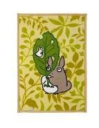 SOLD- Blanket (M)100x140cm- Reversible- Acrylic & Carving- Totoro & Sho - Ghibli -outproduction(new)