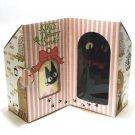 Plush Doll & Mini Towel in House - Gift Set - Jiji - Kiki's Delivery Service - Ghibli - 2009 (new)