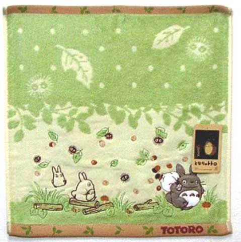 Hand Towel - Applique & Embroidery - Non Twisted Thread - Totoro - Ghibli - 2010 (new)
