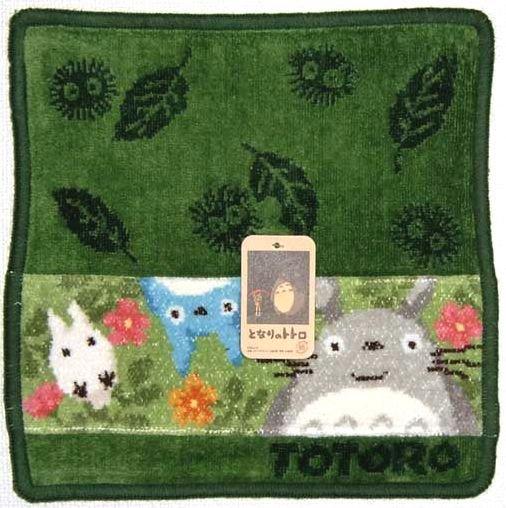 Mini Towel - thick - Jacquard Weaving - Totoro & Chu & Sho - Ghibli - 2010 (new)