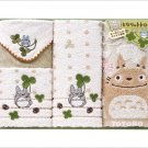 Towel Gift Set - Mini & Wash & 2 Face Towel - Organic - Totoro - Ghibli - 2010 (new)