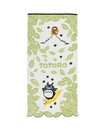 Bath Towel - NonThread Steam Shirring - leaf - Totoro & Chu & Sho & Nekobus - Ghibli - 2009 (new)