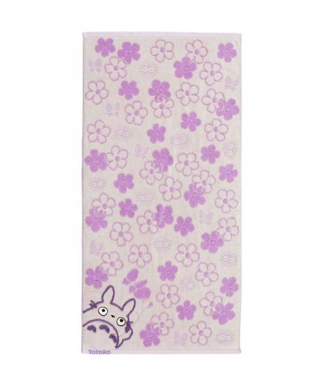 Bath Towel - Fluffy - flower - purple - Totoro - Ghibli - 2007 (new)