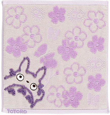 Hand Towel - Fluffy - flower - purple - Totoro - Ghibli - 2007 (new)