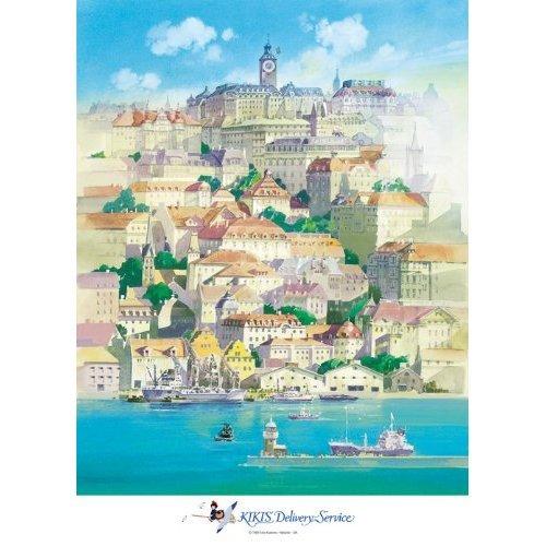 500 pieces Jigsaw Puzzle - umi ni ukabu machi - Kiki's Delivery Service - Ghibli - Ensky (new)