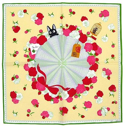 Big Handkerchief - 53x53cm - Jiji & Carnation - Kiki's Delivery Service - Ghibli - 2010 (new)