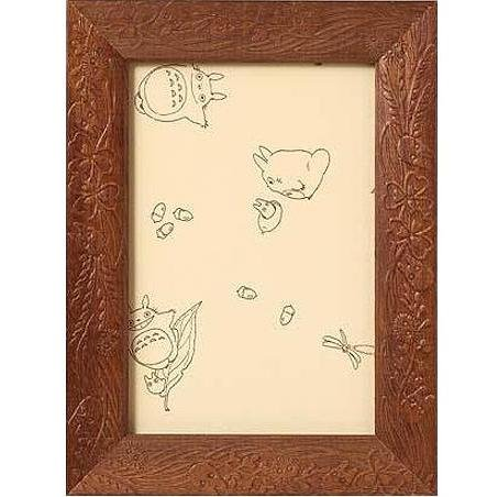 Wooden Frame for 150 pieces Jigsaw Puzzle - walnut - Totoro - Ghibli - Ensky (new)