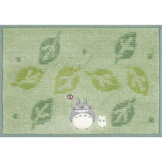 Rug Mat - 45x65cm - green - Totoro & Sho Applique - Kurosuke Embroidered - 2009 (new)