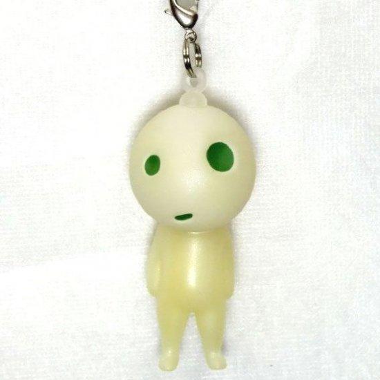 Strap Holder & Hook - Mini Doll - Fluorescence - glow in dark - Kodama - Mononoke - Ghibli - 2010 (new)