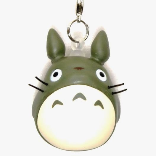 SOLD - Strap Holder & Hook - Soft Vinyl - olive green - Mini Totoro - 2010 - no production (new)