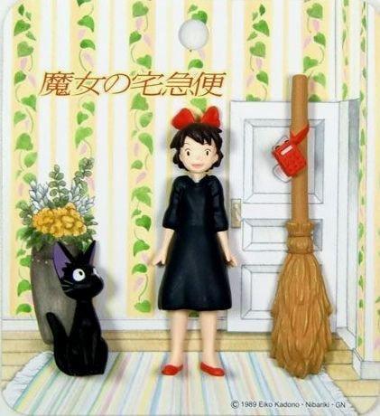 3 Mini Magnet - Kiki & Jiji & Broom - Kiki's Delivery Service - 2010 (new)