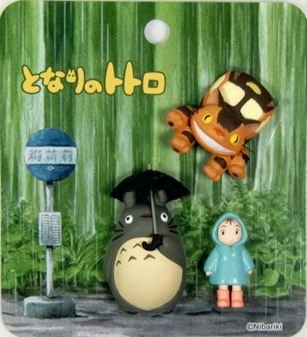 2 left - 3 Mini Magnet - Totoro & Mei & Nekobus - Ghibli - 2010 - no production (new)