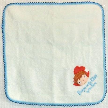 Mini Towel in Capsule - 25x25cm - white - Embroidery - Ponyo - Ghibli - 2010 (new)