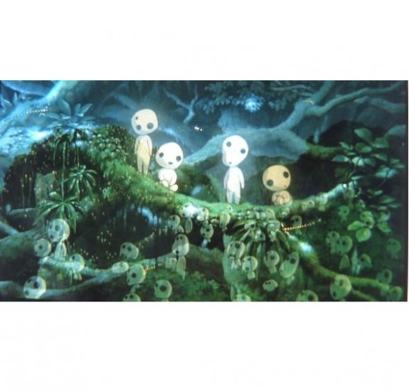 SOLD - Movie Film #15- 6 frames all different - Transparent Kodama - Mononoke - Ghibli (real film)