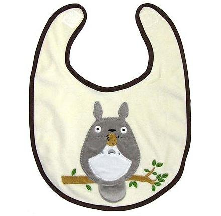 SOLD - Baby Bib - Applique - Totoro - out of production - RARE (new)