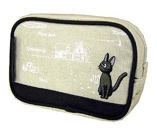 1 left - Pouch - Jiji Embroidered - sqare - Kiki's Delivery Service - Ghibli -out of production(new)