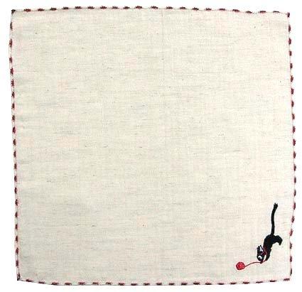 Handkerchief - Jiji & Yarn - Embroidered - Kiki's Delivery Service - 2010 (new)