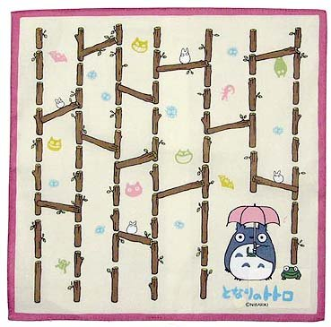 SOLD - Handkerchief - 31x31cm - Totoro - Ghibli - out of production (new)