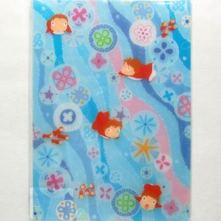 Pencil Board / Shitajiki B5 - 18.2x25.7cm - Ponyo - Ghibli - 2010 (new)