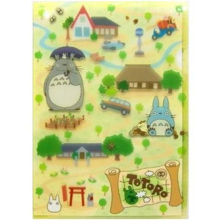Clear File A5 - 15.5x22cm - Totoro & Chu & Sho & Nekobus - Ghibli - 2010 (new)