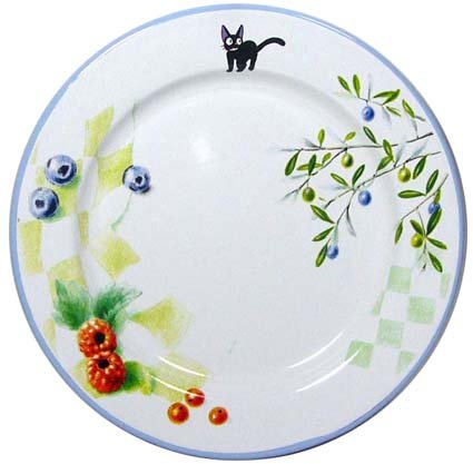 SOLD - Plate - Enamel - berry - Jiji - Kiki's Delivery Service - Ghibli - out of production (new)