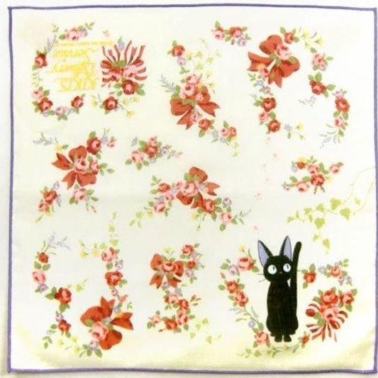 Handkerchief - 29x29cm - Jiji & Rose - Kiki's Delivery Service - Ghibli - 2010 (new)