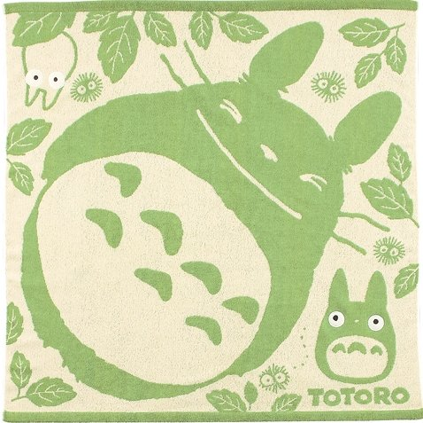 Towel - Jacquard Weaving - 90x90cm - Totoro & Chu & Sho & Kurosuke - Ghibli - 2010 (new)