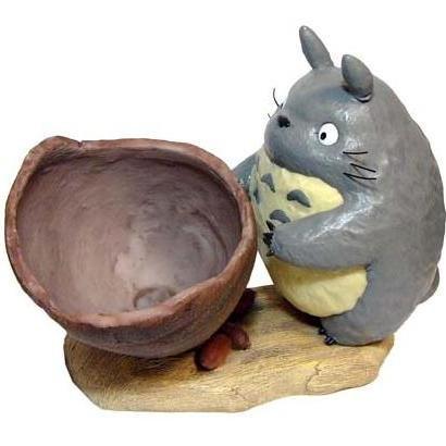 1 left - Totoro with Pot & Kurosuke - Planter Pot - Ghibli - no production (new)