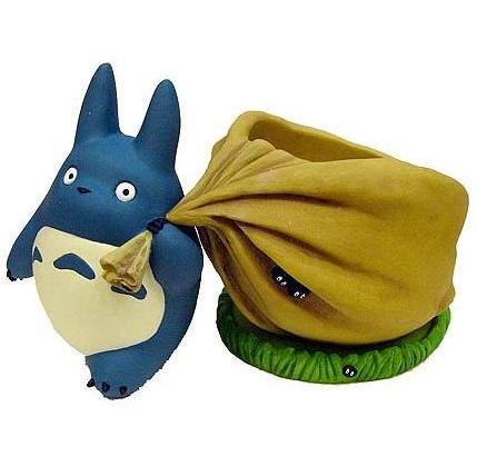 SOLD - Planter Pot & Water Tray - Chu Totoro & Kurosuke - Ghibli - 2007 - out of production (new)