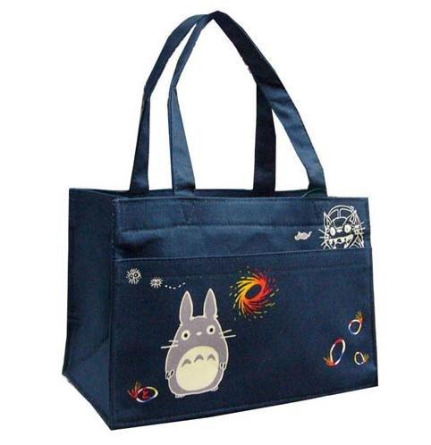Mini Tote Bag - Pocket - Totoro & Sho & Nekobus & Mouse & Kurosuke - Ghibli - 2010 (new)