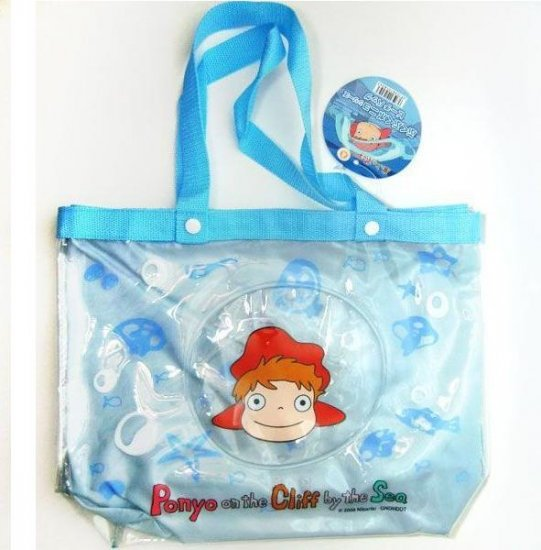 Clear Tote Bag with Inner Bag - Ponyo - Ghibli - 2010 (new)