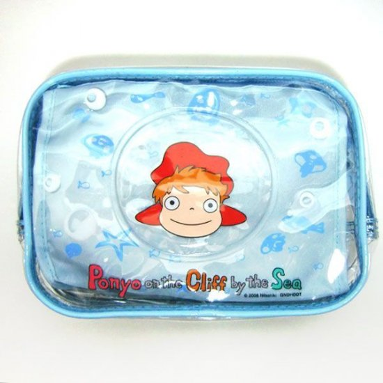 Clear Pouch with Inner Pouch - Ponyo - Ghibli - 2010 (new)