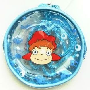 Clear Coin Case with String - Ponyo - Ghibli - 2010 (new)