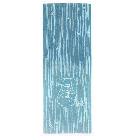 Hand Towel / Tenugui -33x90cm- Totoro & Frog - Japanese Dyed Made Japan - Ghibli no production (new)