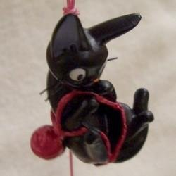 SOLD- Wind Chime -Yarn- Natural Rose Quartz- Jiji - Kiki's Delivery Service - no production (new)
