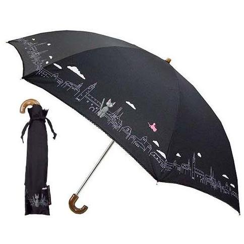 Folding Umbrella & Case - black - Town - Kiki's Delivery Service - Sun Arrow - no production (new)