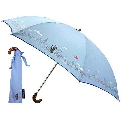 Folding Umbrella & Case - light blue - Koriko Town - Kiki's Delivery Service - Ghibli - 2010 (new)