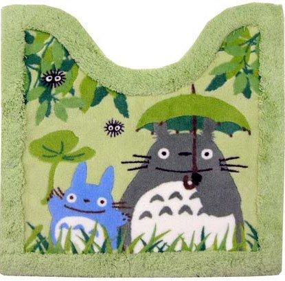 Toilet Mat - 55x60cm - green - Totoro & Chu & Kurosuke - Ghibli - 2010 (new)