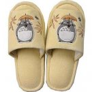 Slippers - 22~25cm - Totoro Applique & Kurosuke Embroidered - beige - Ghibli - 2010 (new)