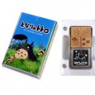 4 Rubber Stamp & Ink Pad in Case - Totoro - made in Japan - Ghibli - 2010 (new)