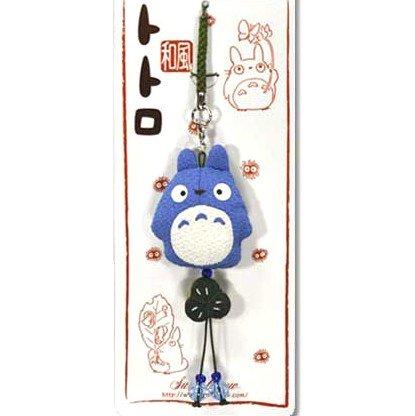 Strap Holder & Hook - Japanese Chirimen / Crape - Bell - blue - Totoro - Ghibli - 2010 (new)