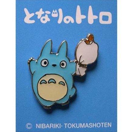 SOLD - Pin Badge - Chu Totoro holding Bag - Ghibli - no production (new)