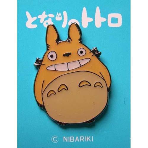 1 left - Pin Badge - orange - Totoro - Ghibli - no production (new)