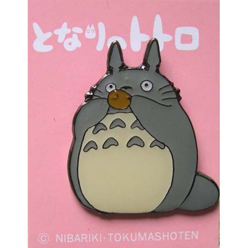 2 left - Pin Badge - Totoro playing Ocarina - Ghibli - no production (new)