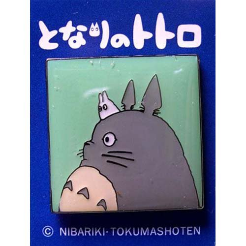 1 left - Pin Badge - Sho Totoro on Totoro - square - Ghibli - no production (new)