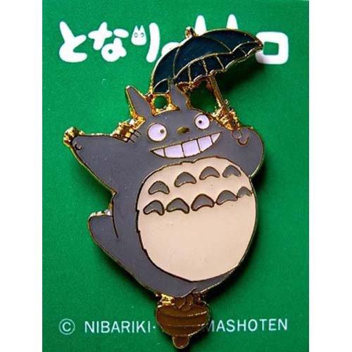 Pin Badge - Totoro holding Umbrella on Top - smile - Ghibli (new)