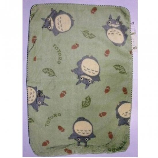 SOLD - Pillow Case -43x63cm- Polyester & Microfiber -green- Totoro - Ghibli -outofproduction(new)
