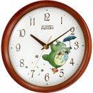 Wall Clock - Quartz - wooden frame - Totoro & Chu & Sho & Satsuki & Mei & Kurosuke - 2010 (new)
